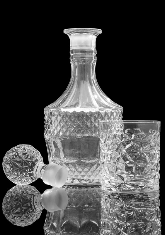 Sempli Re Crystal Decanter & Ghia Old Fashioned Glass