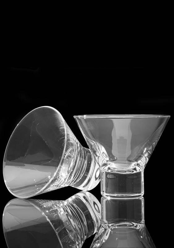 Viski Heavy Base Crystal Martini Glasses
